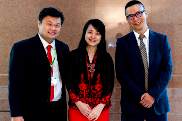 (From left) BSL Eco Energy Managing Director Mr Lim Chi Haur, BSL Eco Energy Communications Director Ms Irene Tan and Seraphim Solar System Chief Executive Officer Mr Polaris Li
