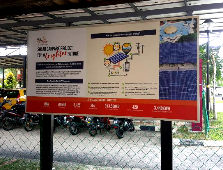 BSL Eco Energy information board information board at UTM